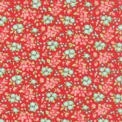 Moda Hello Darling by Bonnie & Camille - 4125 - Wildflower, Floral on Red - 55118 11 - Cotton Fabric